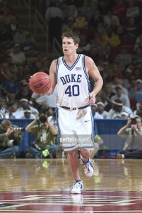 18 March 2004:    Andy Borman of the Duke Blue Devils during the Devils 96-61 victory over Alabama State in the first round of the NCAA Tournament at the RBC Center in Raleigh, NC.  Mandatory Credit:  Bob Leverone/Sporting News/Icon SMI