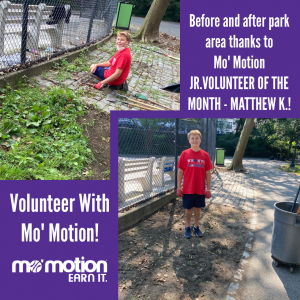 Volunteers with Mo' Motion